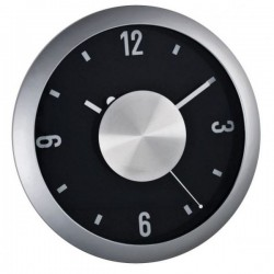 Veľké nástenné hodiny s hliníkovým ciferníkom