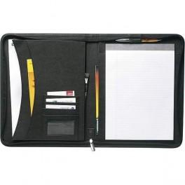 Kožené konferenčné dosky na dokumenty so zipsom