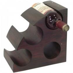 Drevený stojan na 4 ks vína polkruh
