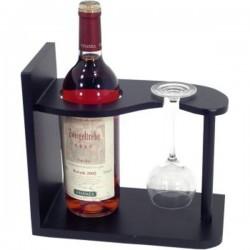 Stojan na víno a pohár drevo