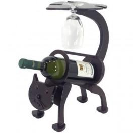 Držiak na víno mačka
