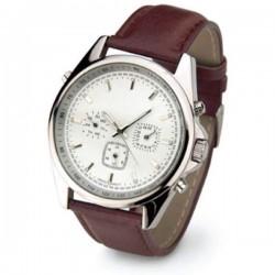 Pánske náramkové hodinky s hnedým koženým remienkom