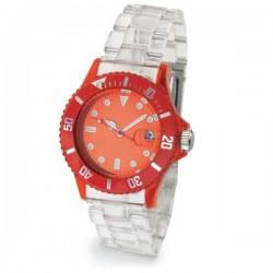 Unisex hodinky transparentný ramienok