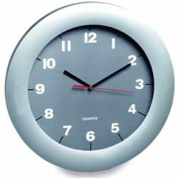Nástenné hodiny kruhové so šedým ciferníkom