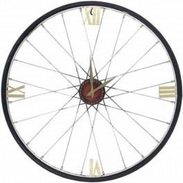 Nástenné hodiny v tvare kolesa
