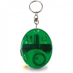 Prívesok na kľúče so skrutkovačmi, metrom a LED svetlom