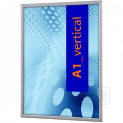 Obojstranný klaprám na sklenený výklad profil 20 mm