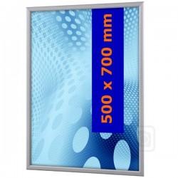 Obojstranný klaprám na sklenený výklad 50 x 70 cm profil 32 mm