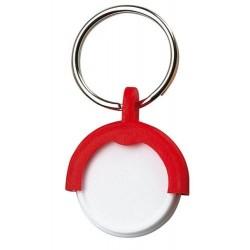 Prívesok na kľúče so žetónmi - červená