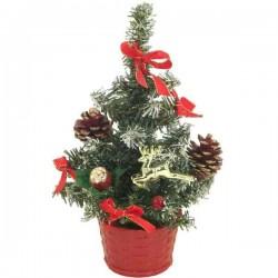 Vianočný stromček zdobený červený