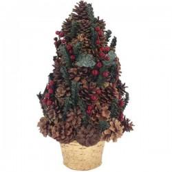 Netradičný vianočný stromček zo šišiek v kvetináči