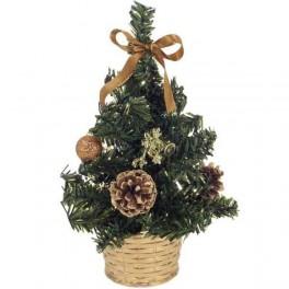 Zlatý vianočný stromček v kvetináči 20 cm