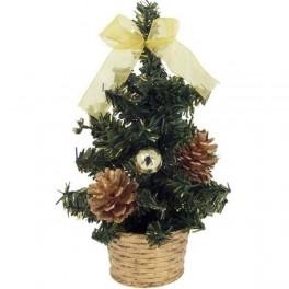 Zdobený vianočný stromček žltý 20 cm