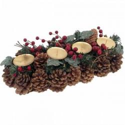 Vianočný svietnik pozdĺžny štyri sviečky