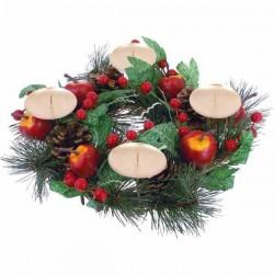 Vianočný adventný veniec - ovocný