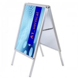 Reklamný stojan áčko - profil 32 mm, oblé rohy