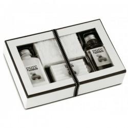 Biela darčeková kazeta do kúpeľne 4 ks