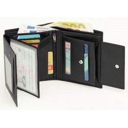 Pánska čierna kožená peňaženka