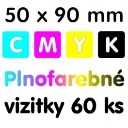 Vizitky plnofarebné 60 kusov