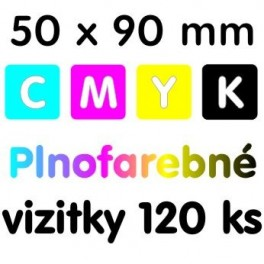Vizitky plnofarebné 120 kusov