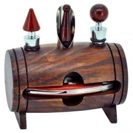 KEG Netradičný stojan s pomôckami na servírovanie vína