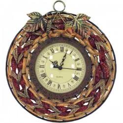 Závesné nástenné hodiny kov prútie