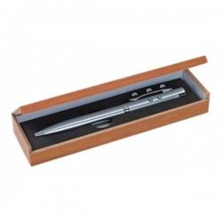 Kovové laserové pero s baterkou v drevenej darčekovej krabičke